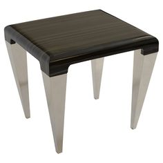 Armen Living Chow Contemporary End Table - LCCHLATO