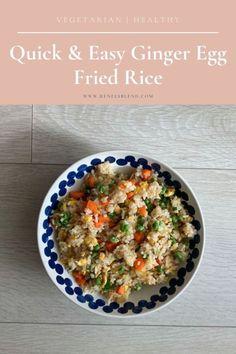 Quick & Easy Ginger Egg Fried Rice - Renee's Blend