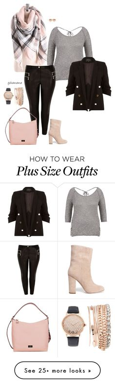 """""""Don't make me blush- plus size"""" by gchamama on Polyvore featuring maurices, Iris & Ink, River Island, Kate Spade, Jessica Carlyle and Marc by Marc Jacobs"""