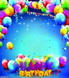 Ideas birthday background wallpapers balloons for 2019 Happy Birthday Blue, Happy Birthday Frame, Happy Birthday Celebration, Birthday Frames, Happy Birthday Pictures, Birthday Wishes, Birthday Background Wallpaper, Birthday Background Design, Balloon Background