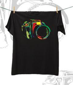 Camiseta ·MXH· Cámara réflex
