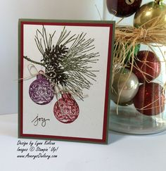 ornamental pine stampin up | Ornamental Pine – this card was based on a beauty by Ann Schach. You ...