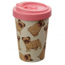 Mopps Pug Dog Screw Top Travel Mug Travel Cup, Dog Travel, Coffee Drinks, Coffee Cups, Carlin, Teapots And Cups, Cupping Set, Home Gifts, Tumblers