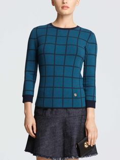 grady windowpane sweater