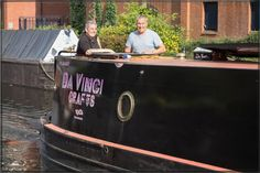 Alison & Paul off to move some boats  At the annual Birmingham Floating Market where about 20 trading Narrowboats gather in the cantre of Brum to flog our wares!..When we got here there were some boats moored that had overstayed on the 48 hour moorings so Alison got the job of towing them away...