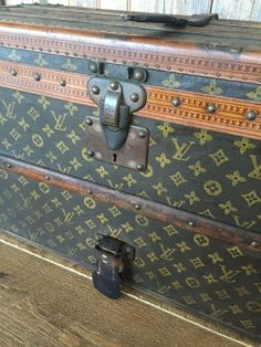 We are thrilled to bring this striking Louis Vuitton trunk to our Estate Collection. This early 20th century luggage has a storied history unlike any other! The owner of this trunk broke ground by bec