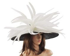Gorgeous Black White Woodpecker Hat for Kentucky Derby
