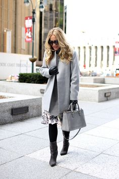 NYFW // Layered Sweater Dress - Style CuspStyle Cusp