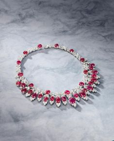 An Impressive Ruby and Diamond Necklace, by Harry Winston  Rare Jewels and Jadeite sale, November 26, Hong Kong
