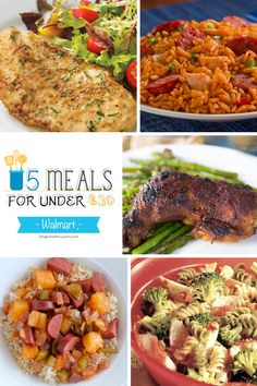 Free Weekly Meal Plan - 5 Meals for Under $30 at Walmart Based on Weekly Sales & Coupons