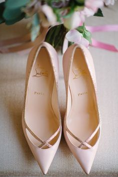 Wedding shoes idea; Featured Photographer: Milton Photography