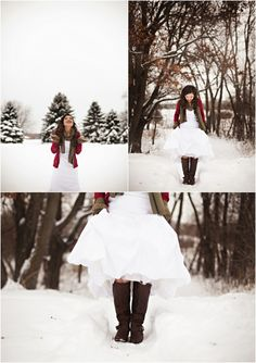 Winter Bridal Portraits in the Woods