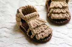 Moccasin Sandals Crochet Pattern Baby booties Crochet Pattern