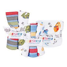 Trend Lab NASCAR 10-Piece Hooded Towel, Wash Cloth and Burp Cloth Set - Blue/Red