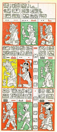 Gates drawing of Dresden Codex Page 6