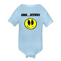 Umm...BOOBIES Baby Blue Infant Creeper $14.99