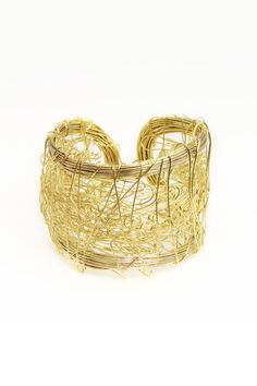 Saachi by Inthings Scribbling Cuff In Gold