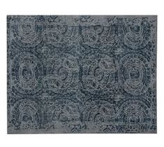 Bosworth Printed Rug - Blue #Pottery Barn