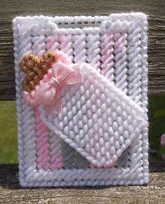 Plastic Canvas Gift Card Holder Baby Bottle Gift Card Holder