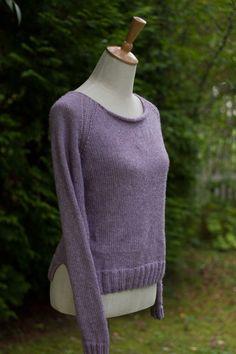 Hand knit merino wool sweater