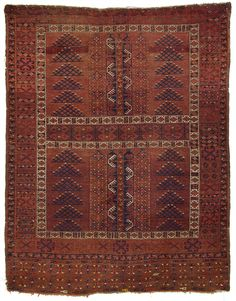 """Antique Turkoman Ersari. These type of rugs were woven as door hangings, and sometimes referred to as Hatchli's. 5'8""""x 7'2"""" SKU# ARTR-32561"""