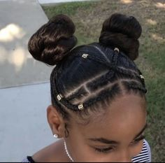 Trendy Hairstyles For School Black Curls Black Kids Hairstyles, Natural Hairstyles For Kids, Natural Hair Updo, Kids Braided Hairstyles, Little Girl Hairstyles, Hairstyles For School, Hairstyles Videos, Children Hairstyles, Trendy Hairstyles