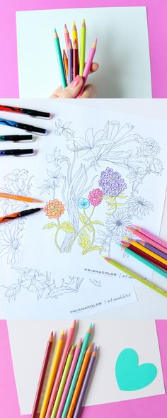 Color all the things + grab some awesome free Coloring pages and more! Find pencils and markers at - and be sure to check out coupons for great savings, in newspapers and online! Free Coloring Pages, Coloring Books, Coloring Sheets, Color Me Beautiful, Pen And Paper, Doodle Art, Hand Lettering, Art Projects, Dawn Nicole