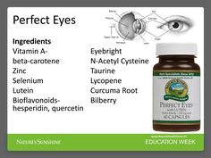 Specific nutrients for your Eyes, see why and what these ingredients are combine for your eye benefit: http://www.naturalhealthstore.us/perfect-eyes/ #PerfectEyes #NaturalHealthStoreUS #NaturesSunshineProducts #WeightLoss #CarmenRodriguez