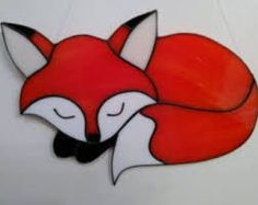 Image result for stained glass fox