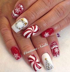 563 Best Holiday Season Nail Art Images Christmas Manicure