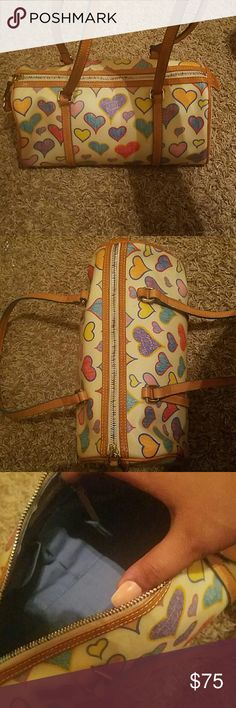 Dooney and Bourke crayon heart barrel bag Medium size. Loved it when i saw it but decided  its too small for my liking. Dooney & Bourke Bags Mini Bags