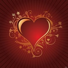 Red and Gold Heart Pic