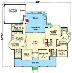 Cute farmhouse. Love the floor plan by ericka