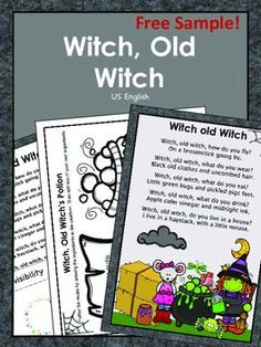 Includes fun activities about the nursery rhyme Witch, Old Witch. It serves as more than a thematic resource and teaches concepts in the context of the rhyme. Teacher Freebies, Higher Order Thinking, Matching Cards, Thinking Skills, Sight Words, Little Star, Nursery Rhymes, Fun Activities, Witch