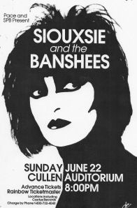 Concert poster  Siouxsie and the Banshees