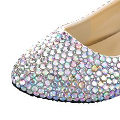 Colorful Rhinestone Flat Wedges Wedding & Prom & Homecoming Day Shoes