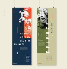 Identity / French Film Festival on Behance. Design Logo, Graphic Design Tips, Graphic Design Posters, Web Design, Book Design, Layout Design, Rollup Design, Standing Banner Design, Banner Design Inspiration