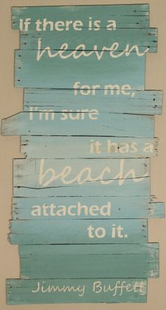 Beach and Jimmy Buffett 24 x 43 by WoodburyCreek on Etsy, $65.00