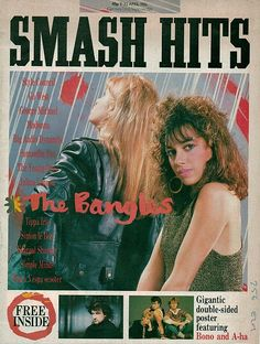 Smash Hits Magazine - April 1986 The Bangles