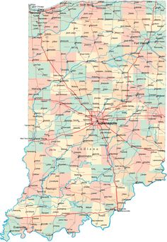 Map Of Indiana Cities #1