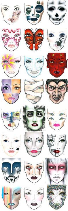 Halloween, anyone? Get Ready early.....Halloween Shops are opening soon Halloween Makeup #halloween #makeup