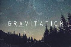 Gravitation Typeface Font by Nadezda Gudeleva on @creativemarket