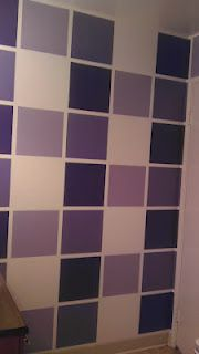 Bathroom paint - Not a fan of the colors, but love the idea. I just need the patience to measure, frog tape and paint. House Projects, Paint Ideas, Patience, Bathroom Ideas, Tape, Home And Family, House Ideas, Walls, Wall Art