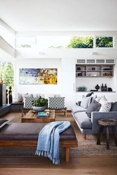 15 Modern Living Room Design Ideas to Upgrade your Home Style – My Life Spot Coastal Living Rooms, Home Living Room, Living Room Furniture, Living Room Designs, Living Room Decor, Living Spaces, Living Area, House Furniture, Modern Furniture