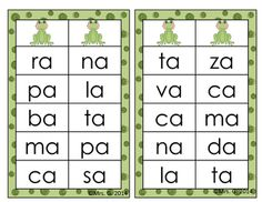 Aprendiendo a leer sílabas y Palabras con la letra de una