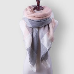 Cheap winter scarf luxury brand, Buy Quality brand pashmina directly from China pashmina brand Suppliers: Za Plaid Women Scarf Warm Winter Scarf For Women's Blanket Shawls Soft Cashmere Scarf Scarves Large Luxury Brand Free Shipping
