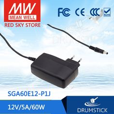 (26.00$)  Know more - http://aifae.worlditems.win/all/product.php?id=32774922420 - [YXYW] Hot! MEAN WELL original SGA60E12-P1J 12V 5A meanwell SGA60E 12V 60W AC-DC High Reliability Slim Wall-mounted Adaptor