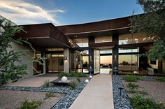 desert homes entry contemporary with landscape design hand front doors Victorian Wall Clocks, Victorian Rooms, Contemporary Doors, Contemporary Landscape, Landscape Design, Dream Home Design, House Design, Gothic Bathroom, Porch And Balcony