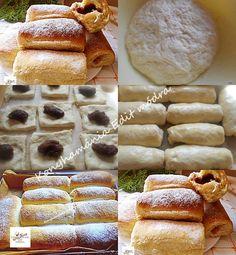 Nekem ez a finomság mindig jól sikerül! Hungarian Desserts, Dim Sum, Fudge, Food And Drink, Bread, Mat, Cooking, Chinese, Hungarian Cuisine