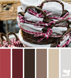 basket hues #red #brown #colorpalette
